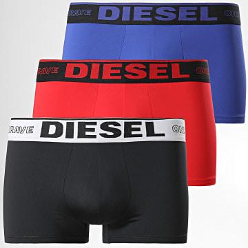 Diesel - Lot De 3 Boxers A01963-0DEAA Noir Bleu Rouge