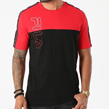 Fila - Tee Shirt A Bandes Ojas 683481 Noir Rouge