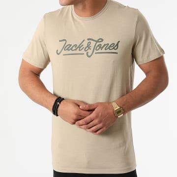 Jack And Jones - Tee Shirt Carlo Vert Kaki Clair