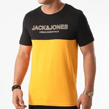 Jack And Jones - Tee Shirt Urban Blocking Jaune Noir