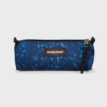 Eastpak - Trousse Benchmark Single Bleu Marine Floral