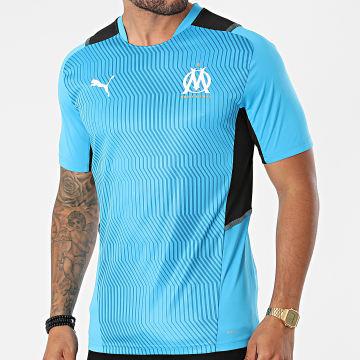 Puma - Tee Shirt De Sport OM 758826 Bleu Clair