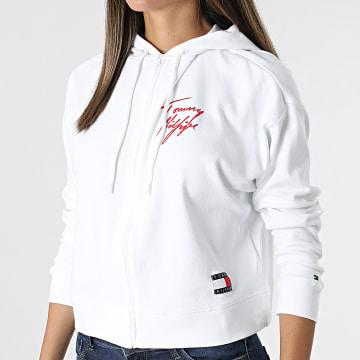 Tommy Hilfiger - Sweat Capuche Zippé Femme 3015 Blanc