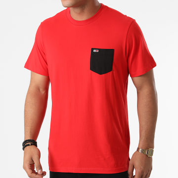 Tommy Jeans - Tee Shirt Poche Contrast Pocket 0953 Rouge