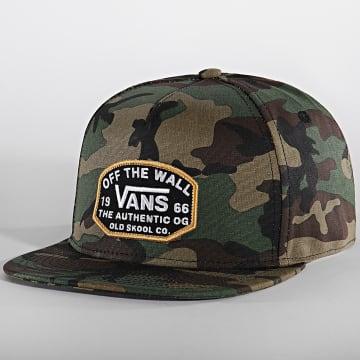 Vans - Casquette Snapback Camouflage Old Skool VN0A5E2X97I1 Marron Vert Kaki