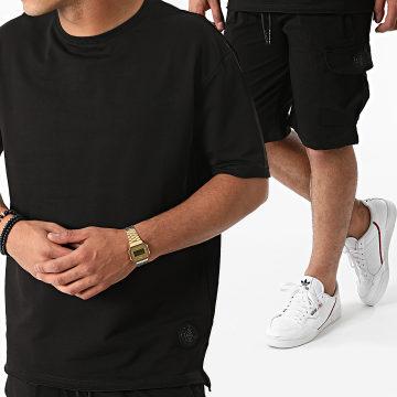 Zelys Paris - Ensemble Tee Shirt Oversize Short Jogging Covo Noir