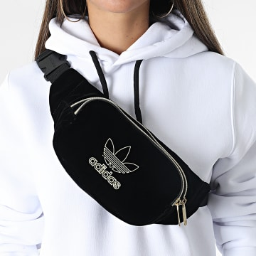 Adidas Originals - Sac Banane Femme Velvet H13526 Noir Doré
