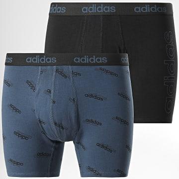Adidas Performance - Lot De 2 Boxers H35742 Noir Bleu