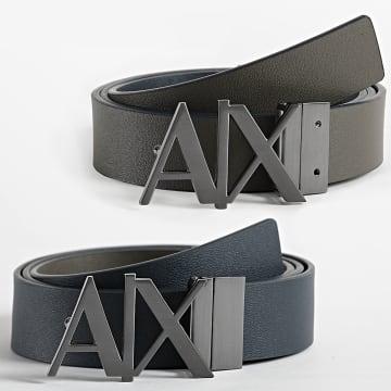 Armani Exchange - Ceinture Cuir Réversible 951017-CC505 Noir Gris