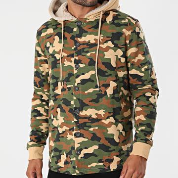 Classic Series - Veste A Capuche DP Kai Vert Kaki Beige Camouflage