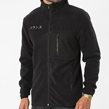 Classic Series - Veste Zippée Polaire DP Fleece Noir