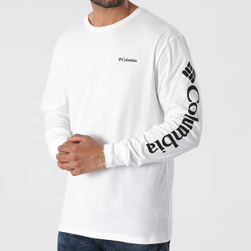Columbia - Tee Shirt Manches Longues North Cascades 1834021 Blanc