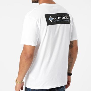 Columbia - Tee Shirt North Cascades 1834041 Blanc Noir