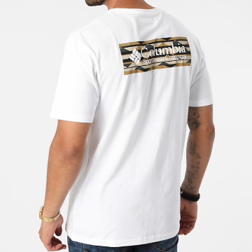 Columbia - Tee Shirt North Cascades 1834041 Blanc Marron