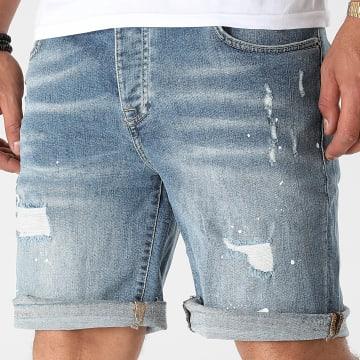 GRJ Denim - Short Jean Slim 14833 Bleu Denim