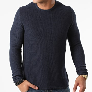 Only And Sons - Pull Niko Life Bleu Marine Chiné