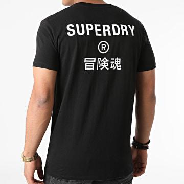 Superdry - Tee Shirt Corporate Logo M1011139 Noir