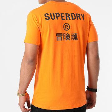 Superdry - Tee Shirt Corporate Logo Brights M1011219A Orange