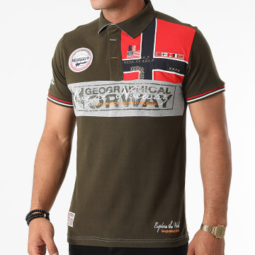 Geographical Norway - Polo Manches Courtes Kidney Vert Kaki