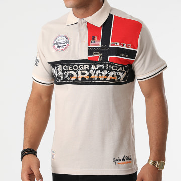 Geographical Norway - Polo Manches Courtes Kidney Beige