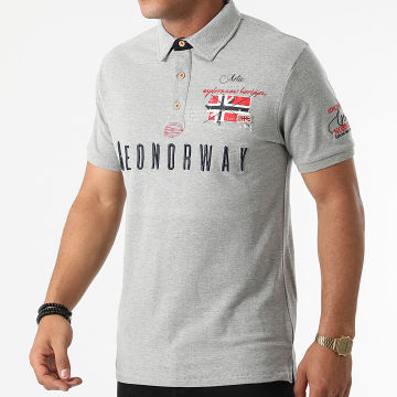 Geographical Norway - Polo Manches Courtes Kason Gris
