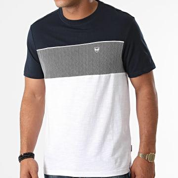 Kaporal - Tee Shirt Luis Bleu Marine Blanc