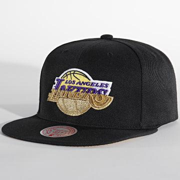 Mitchell and Ness - Casquette Snapback Los Angeles Lakers 6HSSMM19489 Noir Doré