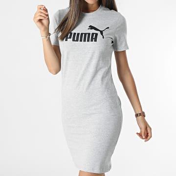 Puma - Robe Tee Shirt Femme 586910 Gris Chiné
