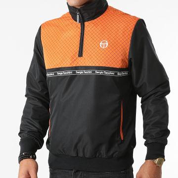 Sergio Tacchini - Sweat Col Zippé Nihil 39332 Noir Orange