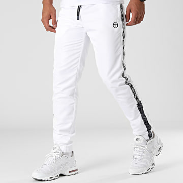 Sergio Tacchini - Pantalon Jogging A Bandes Nedo 39334 Blanc