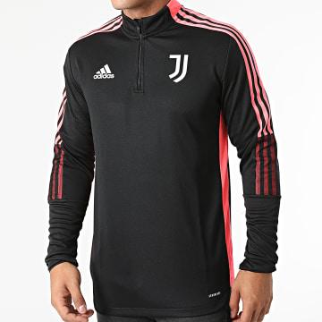 Adidas Performance - Sweat Col Zippé A Bandes Juventus HC4706 Noir