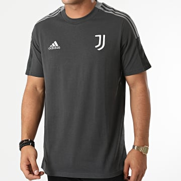 Adidas Performance - Tee Shirt A Bandes Juventus GR2972 Gris Anthracite