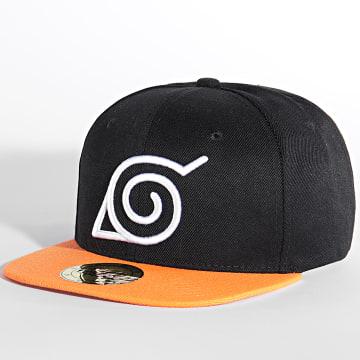 Naruto - Casquette Snapback Symbol Noir Orange