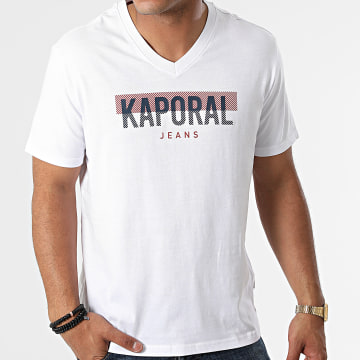 Kaporal - Tee Shirt Col V Robuk Blanc