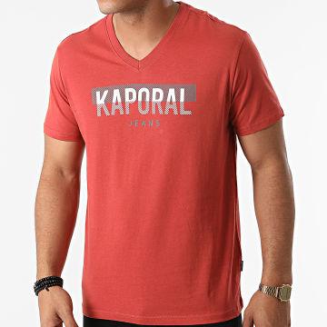 Kaporal - Tee Shirt Col V Robuk Brique