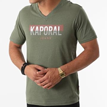 Kaporal - Tee Shirt Col V Robuk Vert Kaki