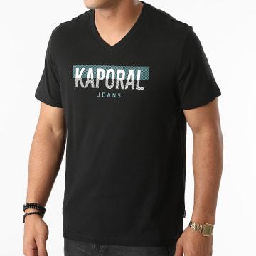 Kaporal - Tee Shirt Col V Robuk Noir