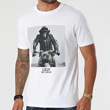 Luxury Lovers - Tee Shirt Rider Chimp Blanc