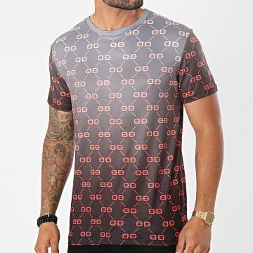 Uniplay - Tee Shirt Dégradé UY659 Gris Anthracite Noir
