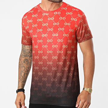 Uniplay - Tee Shirt Dégradé UY659 Rouge Noir