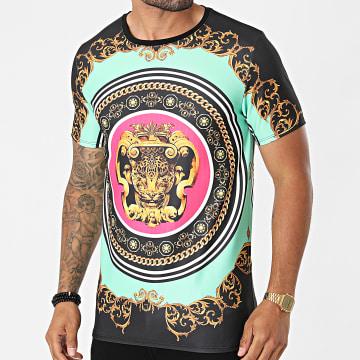 Uniplay - Tee Shirt Renaissance UP-T818 Noir Vert