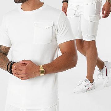 Uniplay - Ensemble Tee Shirt Short Jogging ES-56 Blanc
