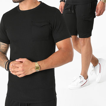 Uniplay - Ensemble Tee Shirt Short Jogging ES-56 Noir