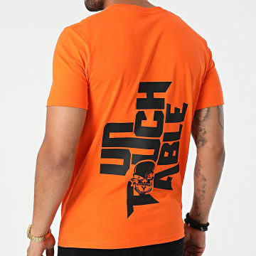 Untouchable - Tee Shirt Logo Orange Noir