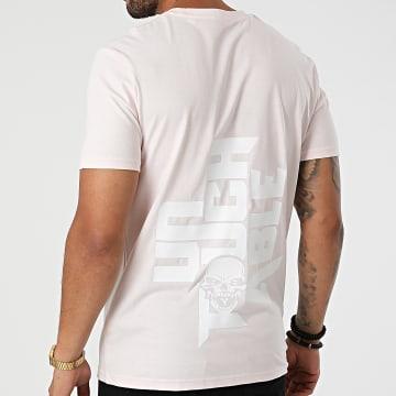 Untouchable - Tee Shirt Logo Rose Pastel Blanc