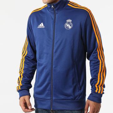 Adidas Performance - Veste De Sport Zippée A Bandes Real Madrid 3 Stripes GR4246 Bleu Marine