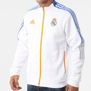 Adidas Performance - Veste Zippée A Bandes Real Madrid Anthem GR4270 Ecru