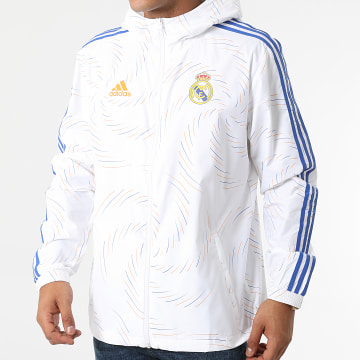 Adidas Performance - Coupe-Vent A Capuche Real Madrid GR4274 Ecru