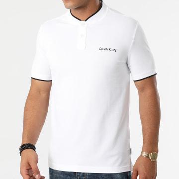 Calvin Klein - Polo Manches Courtes Stretch Tipping Mao 6865 Ecru