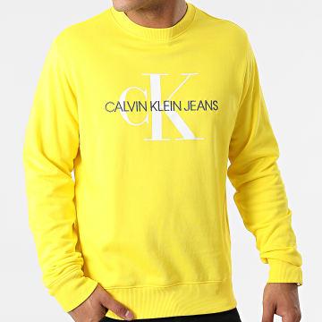 Calvin Klein - Sweat Crewneck Monogram Regular 5595 Jaune